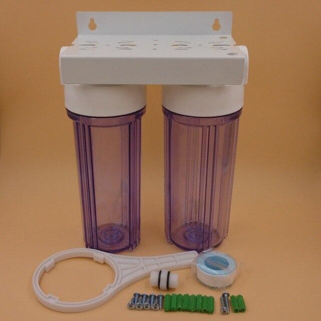 2-ступенчатый 10-дюймовый фильтр для очистки воды, бытовой фильтр для аквариума kichen, внешний фильтр для вод