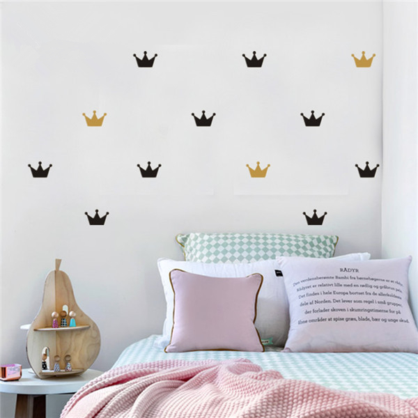 US $2.86 |15 pz/set Crown Modello Pasta Parete Sticker Decorare Camera Da  Letto Stickers Murali Principessa del capretto Del Bambino Camera ...