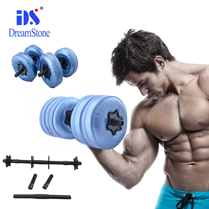 The New Style Weight adjustable Water Dumbbell Bodybuilding Workout Exercise Dumbbell for man adjustable water dumbbell weights for fitness and bodybuilding equitment high quality