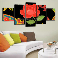 High Definition Print Art Canvas Painting Large Red Flower For Living Room Decoration Spray Painting Print