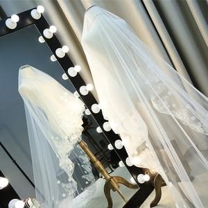 Image 3 - hot sale list Ivory long wedding veil 2m 3m flowers beaded lace edge velos novia wedding accessories cathedral wedding veil