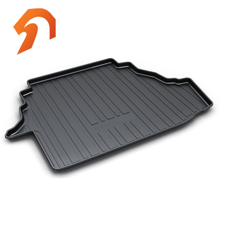 Rubber Rear Trunk Cover Cargo Liner Trunk Tray Floor Mats For Toyota Camry 2007-2011 Carpet Liner Mats diy rear trunk security shade hatch black cargo cover shade for ford edge 2011 2012 2013 only