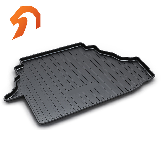Rubber Rear Trunk Cover Cargo Liner Tray Floor Mats For Toyota Camry 2007 2017 Carpet