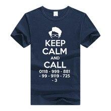 TEEWINING The IT Crowd Moss T Shirt Geek Nerd T-Shirt Men Women Short Sleeve T-shirt Keep Calm And Tee