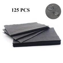ใหม่ล่าสุด125 Pcs Black Tattooผ้าเช็ดทำความสะอาดทิ้งทันตกรรมเจาะBibsกันน้ำแผ่นกระดาษTattooอุปกรณ์เสริม