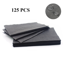 Newest 125 pcs Black Tattoo Cleaning Wipes Disposable Dental Piercing Bibs Waterproof Sheets Paper Tattoo Accessories