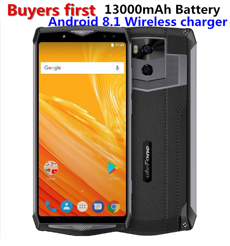 Ulefone puissance 5 6.0 FHD 4g Smartphone MTK6763 Octa base Android 8.1 6 gb + 64 gb 21MP 13000 mah Sans Fil chargeur Visage ID mobile téléphone