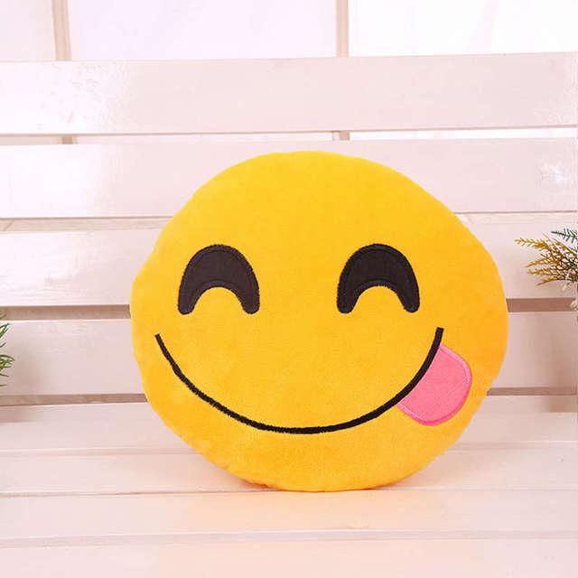 ParkShin Cute Emoji Cushion Home Smiley Face Pillow Stuffed Toy Soft Plush 32cmx32cm