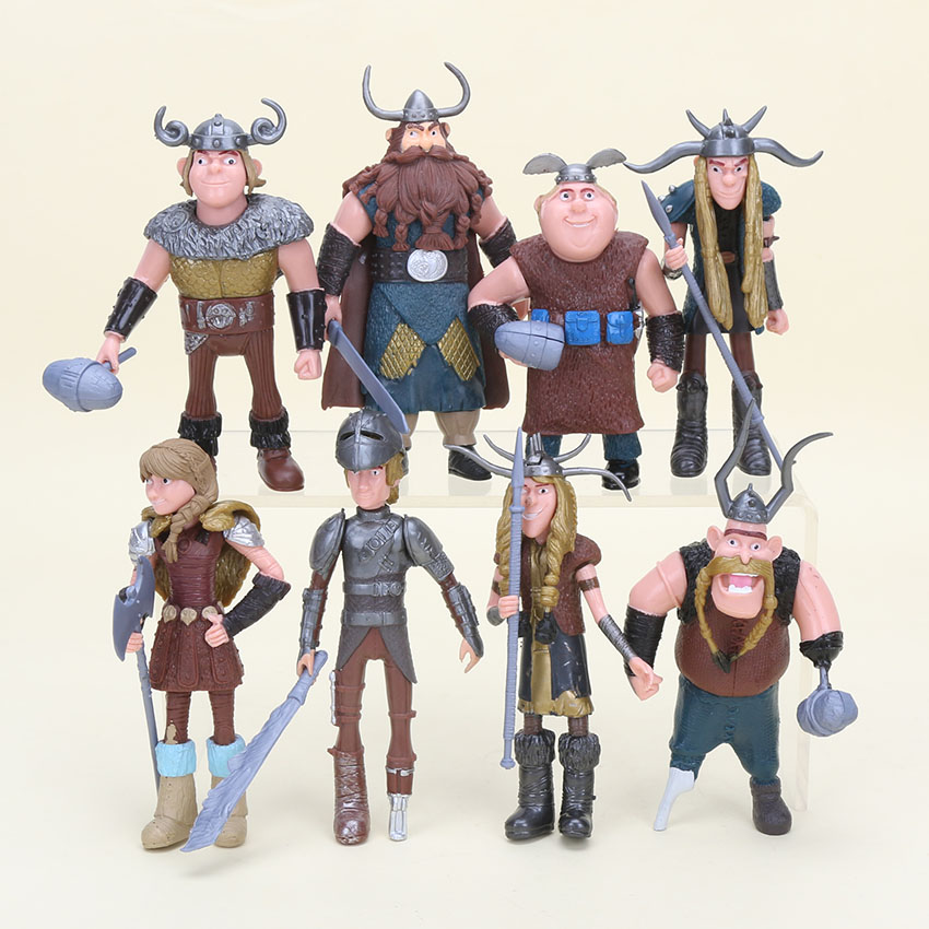 8 pcs/set How to Train Your Dragon Action Figure Toys Figurines PVC Model Collection Toy For Christmas Gift 10cm-14 cm N036 newest how to train your dragon 2 action cosplay weapons fire sword axe buckler toys for children brinquedos kids minecraft toys