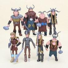 8 st / set Hur man tränar din drake Åtgärd Figurleksaker Figurines PVC-modellsamling Leksak till julklapp 10cm-14 cm N036