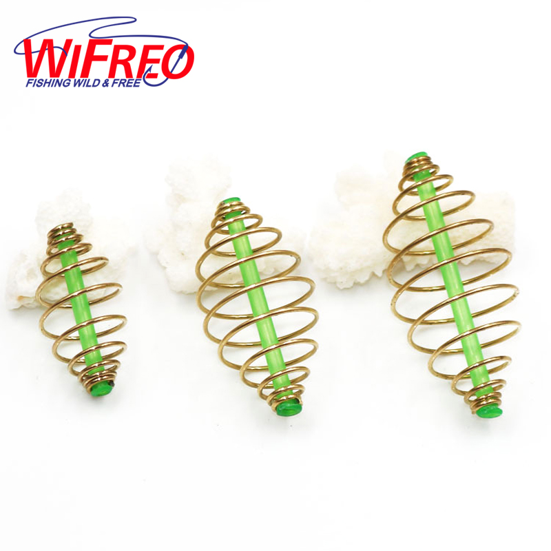 Wifreo 6PCS inline Bait Feeder Spring for Carp Fishing Fresh & Saltwater Fishing Rig Bait Feeder Cages & Method Leader S M L mikado ultraviolet method feeder 305см 0 90гр