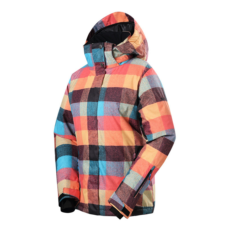 Gsou snow women's ski suit outdoor warm breathable ski jacket double board single board skiing windproof waterproof ski clothes недорого