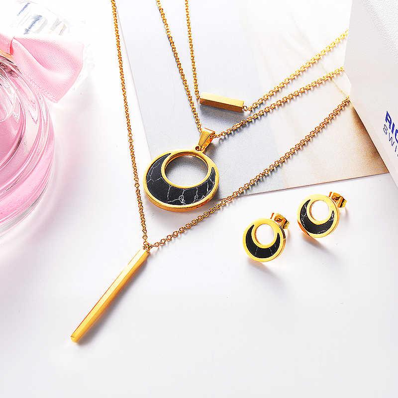 cb2e271cc7c6 ... Joyeria Collar Moda 2018 Joyas Acero Quirurgico Inoxidable para Mujer  Designer 316l Stainless Steel Jewelry Supplies ...