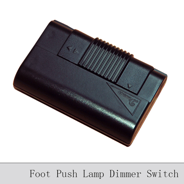 Foot Push Lamp Dimming Switch Black Transparent Floor Lamp Table ...