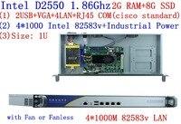Wholesale Dual core 4*1000M network server WayOS 4 Ethernet ports ros soft route server with INTEL82583V Gigabit D2550 1.86Ghz