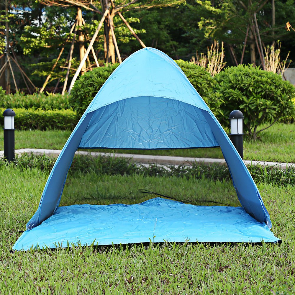 Instant Quick Cabana Beach Tent Outdoor Automatic Foldable Sun Shelter 3 4 Person Portable UV Protection Pop Up 6 Colors-in Sun Shelter from Sports ... & Instant Quick Cabana Beach Tent Outdoor Automatic Foldable Sun ...