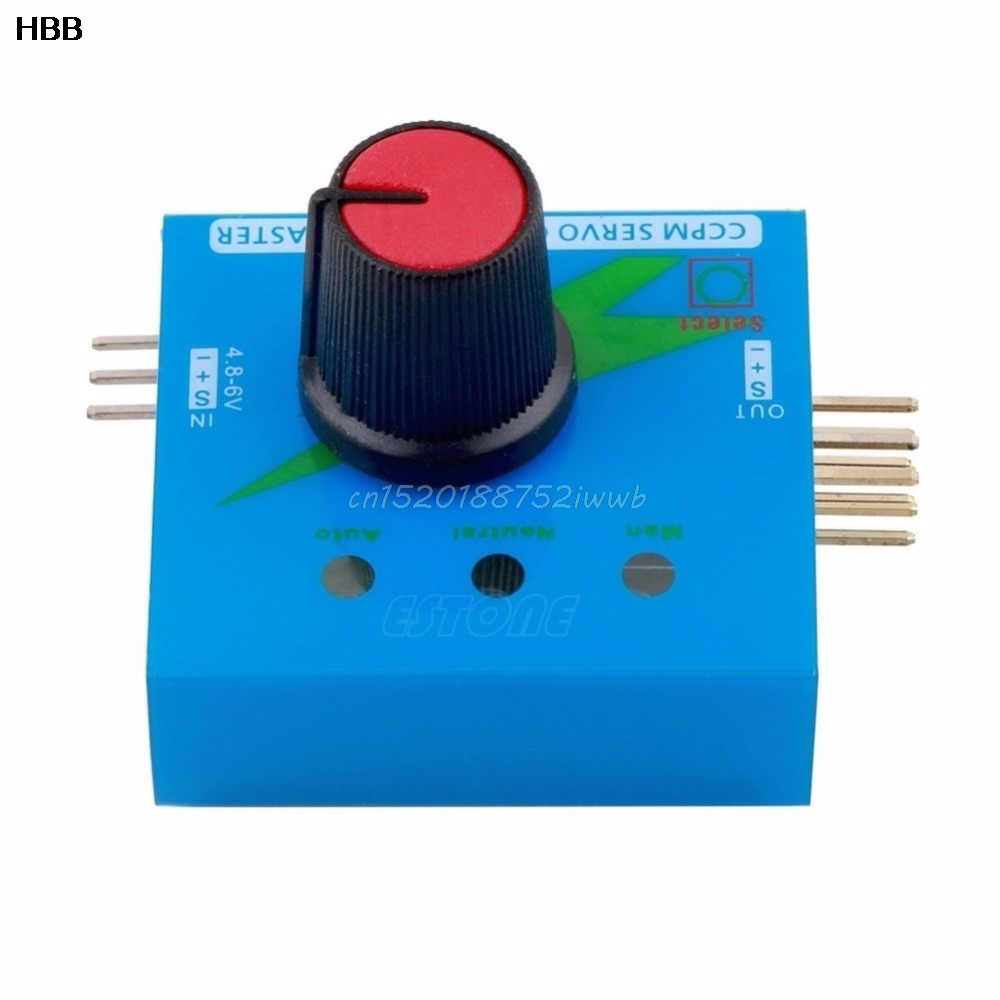 Steering Gear Tester Servo Motor Tester 3 Switch Mode for RC Helicopter Car Boat  #T026#