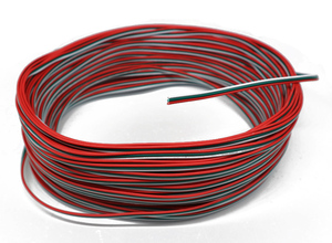 Tinned copper 22AWG 3 pin cable PVC insulated wire 3P 22 awg stranded wire Electric cable for ws2812b ws2811 strip
