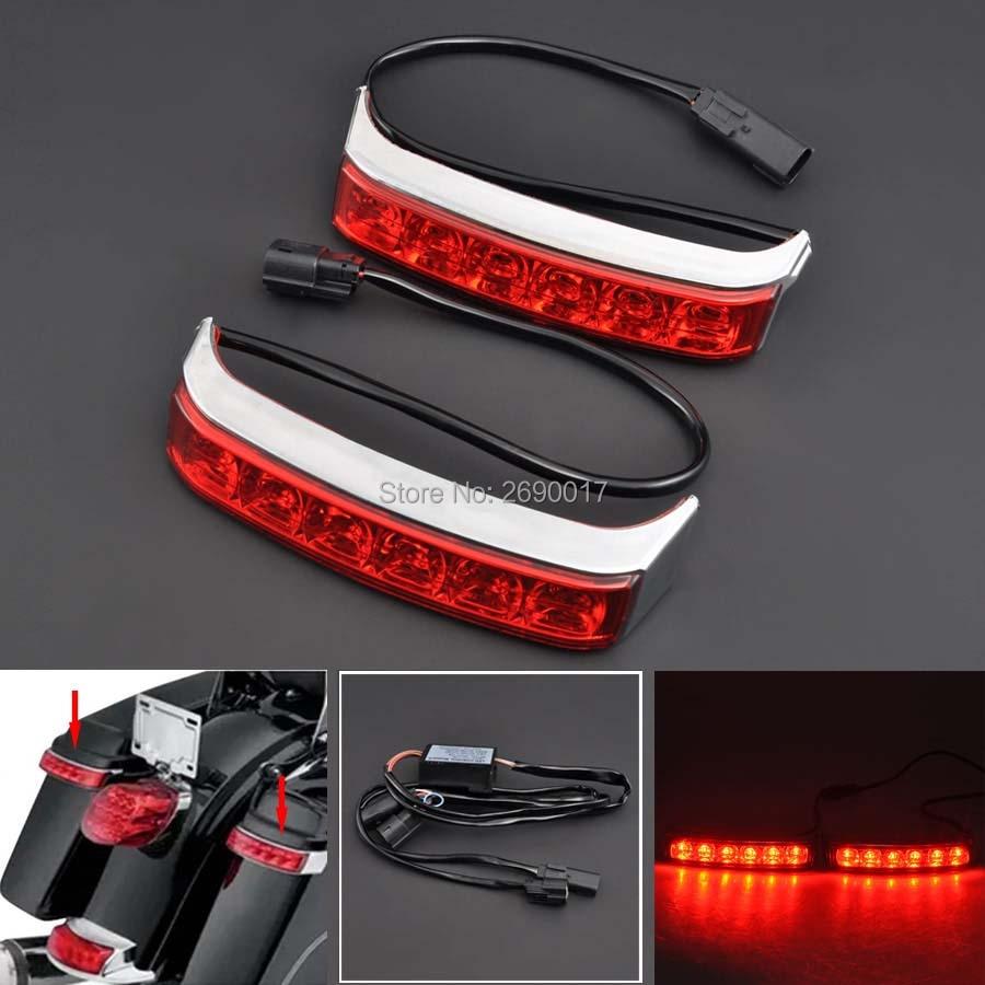 New Motorcycle Parts Saddlebag Box Luggage Housing Tail Run Brake Turn Light Lamp LED Len Fits
