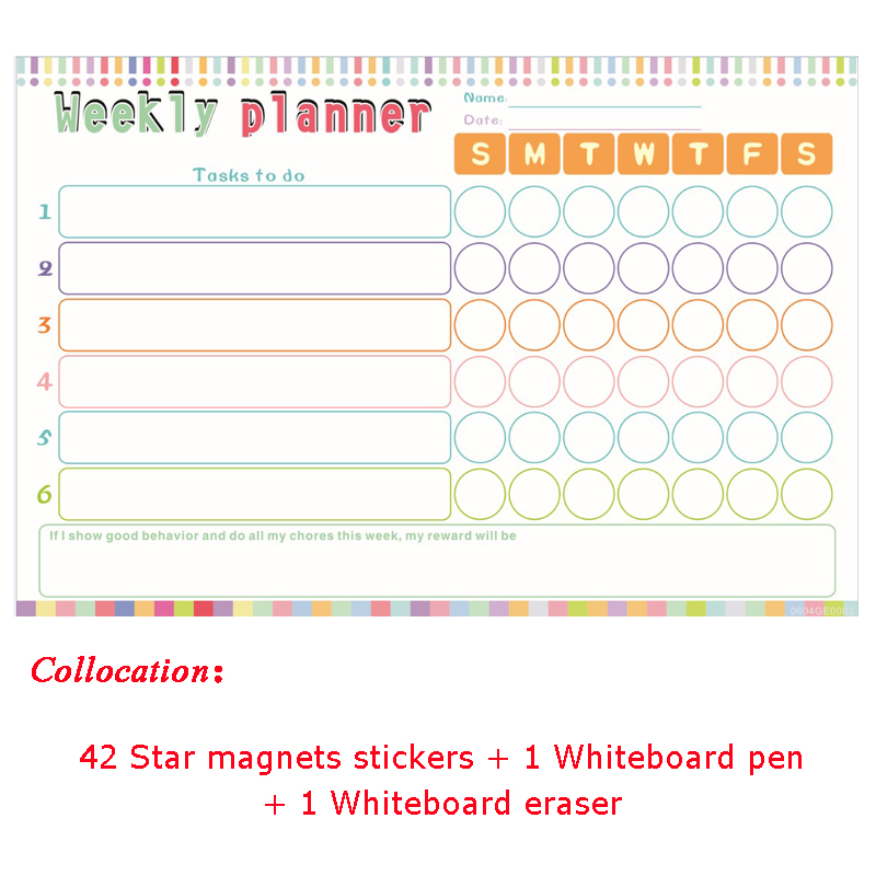 Kids Reward Stickers Magnetic Reward Chart Wall Stickers for child