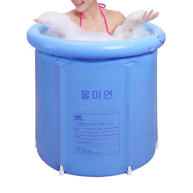 HOT!!!Portable Inflatable Bath Tub Folding Tub Bath Adult Child ...