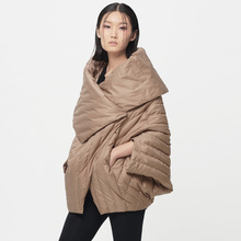 [XITAO] New winter fashion casual style solid color single breasted thin asymmetric half sleeve female down&parkas,BCB-005