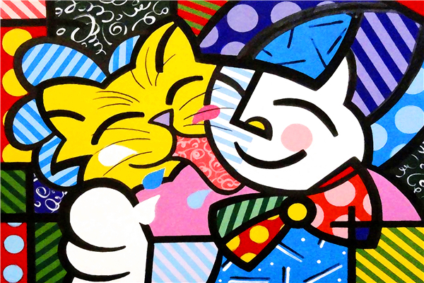 Alice Custom For You Free Shipping RB Painting Wallpapers Cartoon Cartoon Cat Custom Canvas Posters Romero Britto Stickers Home Decor  #PN#919#