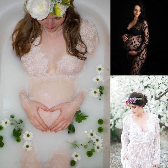 Maxi Lace Long Maternity Dresses Maternity 1