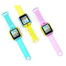 2017 Новый Стиль Дети Милые Tencent QQ Часы Телефон Безопасности Удаленного локатор GPS SOS SMS Smart Watch Анти Потерянных Детей Smartwatch Сигнализации