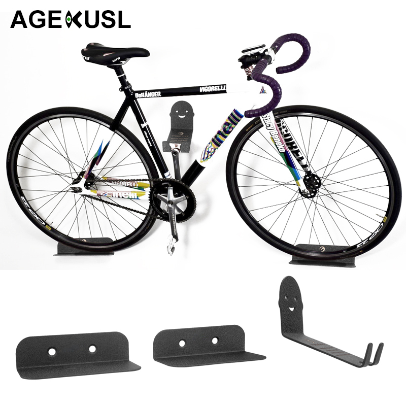AGEKUSL Innovative Packing Bicycle Bike Racks Wall Mount Storage Holder Stand Support MTB Mountain Road Bike Bicycle Accessories чехол для iphone 7 объёмная печать printio джонни депп в образе грин де вальда