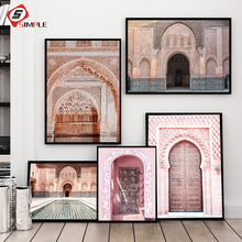 Portal Door Wall Art Canvas Morocco Poster And Print Painting Scandinavian Style Decoration Picture Living Room Decor for Home
