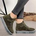 Женская мода Повседневная Обувь Зима Замши Женская Обувь Повседневная Весна Осень