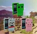 Новые 3 шт./лот ipphone Силиконовый Чехол Creeper Minecraft Случае игрушка Розовый свинья Серый Волк игрушки Случае IP Телефон Оболочки модели детские подарок