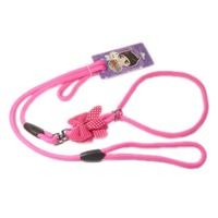 Pet Dog Lead Leash With Rabbit Ears And Bowknot 150cm Nylon Fluorescence For Small Puppyy Dogs