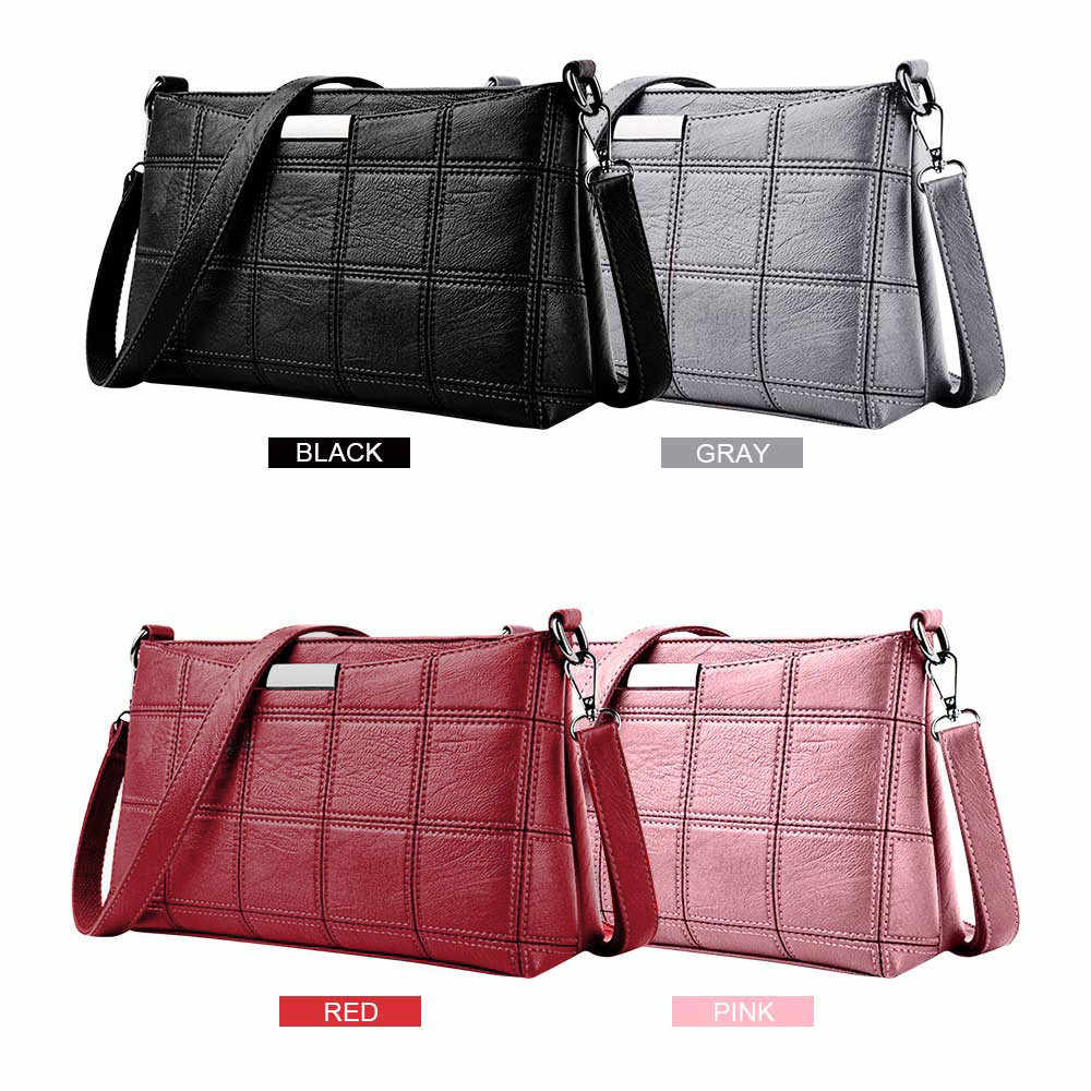 Bags For Women 2019 Luxury Handbags Women Bags Designer Women Handbag Leather Plaid Messenger Shoulder bag сумка женская