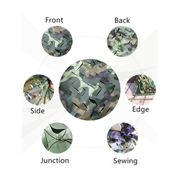 5x7M Wide Jungle Camouflage Shade Net Hunting Hide Mesh Net Military Awning Army Camping Sun Shelter Beach Tent Hide Shade Sails