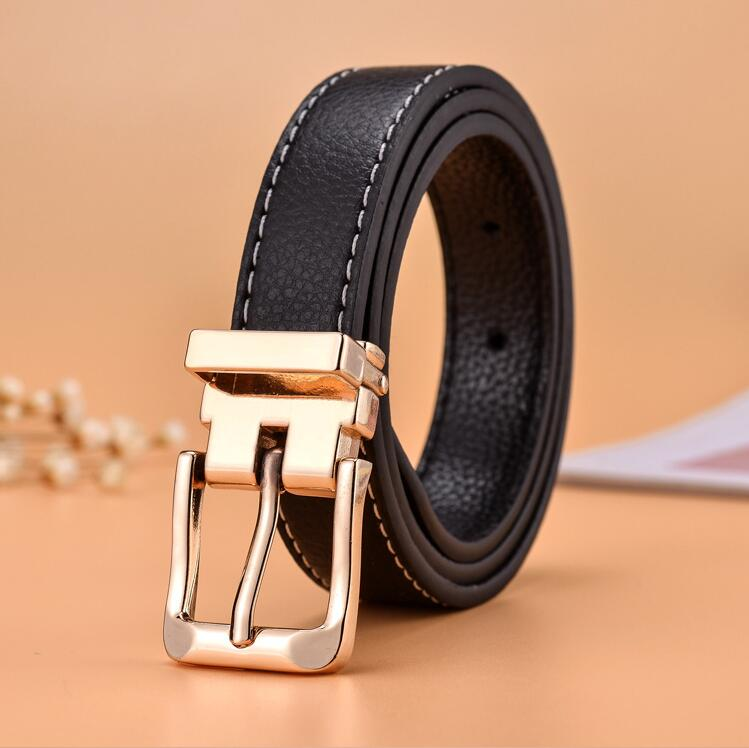 Child Ceinture Punk Fashion Leisure Designer Children's   Belt   Boys Girls Off White Gold   belt   buckle Ceinture Femme