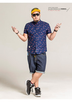PANMAX Brand Code Mens Casual Men S Shirt Collar Personality Side Loose Shirt XL