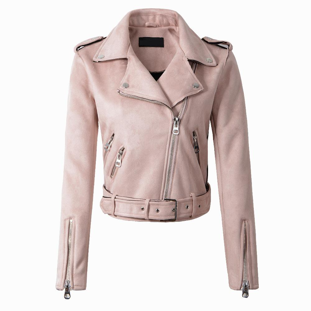 2018 New Arrial Women Autumn Winter   Suede   Faux   Leather   Jackets