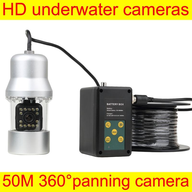 Fish Finder Camera HD Underwater Video Fishing Camera System Kit 50M 360 Degree Rotative Underwater camera night visison  ennio sy7000d 15m ip68 hd underwater video camera system