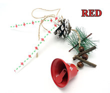 Christmas ornaments 1pc windbell for natural handmade craft steel bells Christmas tree decorations for home 2017 merry christmas