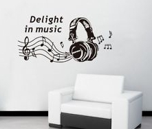 design Vinyl Wall Stickers Music Room Earphone Home decoration decals Kids Nursery Living Rooms - ALL FIVE STARS TECH store