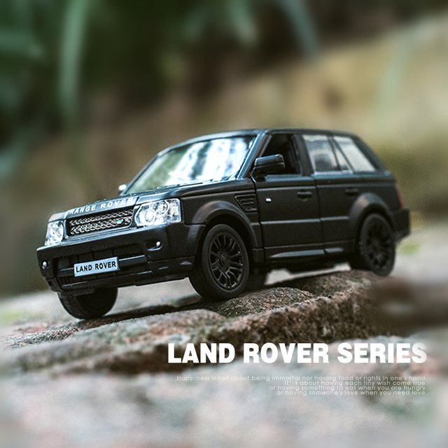 Boxed 5 inch simulation alloy car model  Land Rover range rover/autobiography evoque metallic material kids toys