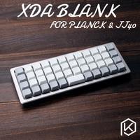 XDA blank keycaps planck ace40 xt Keyset Blank Similar to DSA For MX Mechanical Keyboard Ergo Filco Leopold Cosair Noppoo Planck