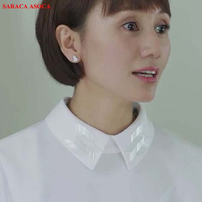 Fashion Detachable Collars Women All Match Sweater Shirt Fake Collar For Girls A240