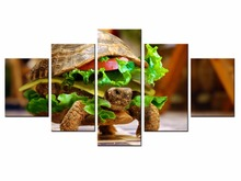 5 Pieces Factory wholesale Fun food poster Art Print Poster Wall Picture Canvas Painting Framed Home Decor/still life-13