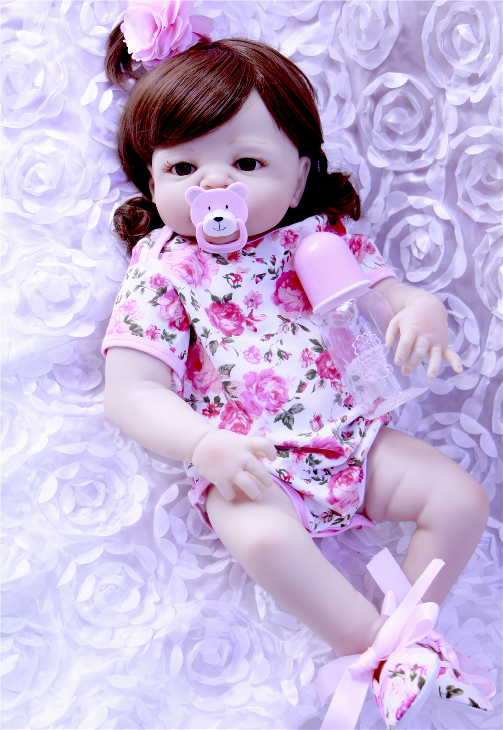 Full silicone reborn baby dolls curly hair girl 2357cm realistic reborn babies alive dolls toys for children bebe gift rebornFull silicone reborn baby dolls curly hair girl 2357cm realistic reborn babies alive dolls toys for children bebe gift reborn