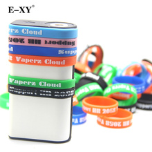 E-XY 20pcs E cig accessories silicone rubber band vape box mod ring decorative and protection Box mods Non Slip rubber rings