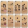 Divertido suave claro kim kardashian llorando cara emoji case para iphone 6 6 s Más 5 5S SÍ 4 4S Kimoji Ultrafino TPU Teléfono Móvil Shell