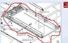 D004607-01/D004607 Noritsu QSS28/29/31 минилаборатория рамы конвейера